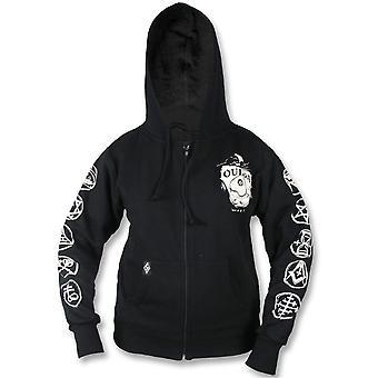 Liquor brand - ouija ii hoodie - women's zip up hoodie, black