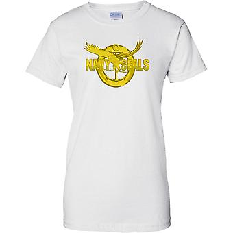 Navy Seal gouden insigne - US Naval Special Forces - dames T Shirt