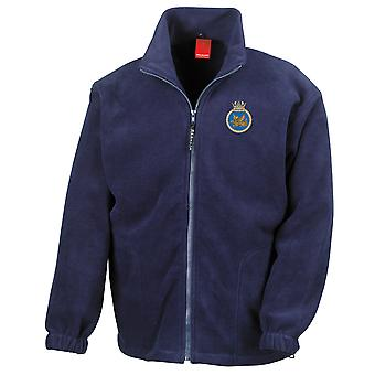 HMS Vigilant Embroidered Logo - Royal Navy Submarine Official MOD Full Zip Fleece