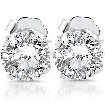 1ct Diamond hengsten 14K White Gold