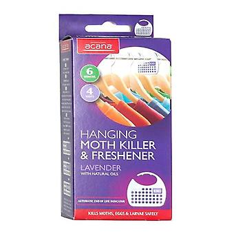 Pack of 4 Acana Moth Killers Hanging For Your Wardrobes from Caraselle