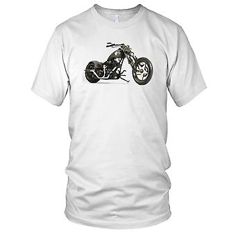 Custom Bobber Motorbike Biker US Army Kids T Shirt