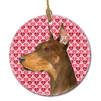 Carolines Schätze SS4468CO1 Dobermann Keramik Ornament