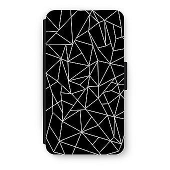 サムスン銀河 A3 (2017) フリップ ケース - 幾何学線白