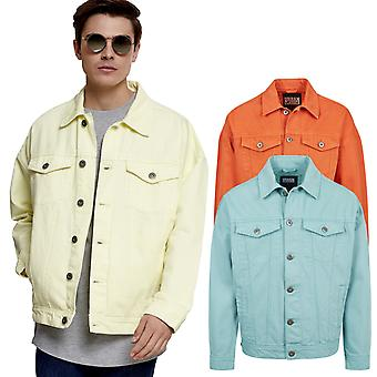 Urban classics - oversize garment dye summer denim jacket