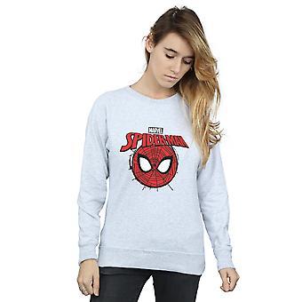 Marvel Women's Spider-Man Logo Head Sweatshirt