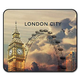 London View  Non-Slip Mouse Mat Pad 24cm x 20cm | Wellcoda