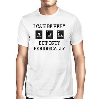 نردي دورياً رجالي أبيض غريب العلوم تي شيرت هدية مضحك فكرة