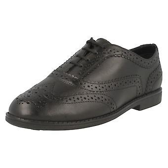 Girls Clarks School Shoes Black Leather Skylar Eve