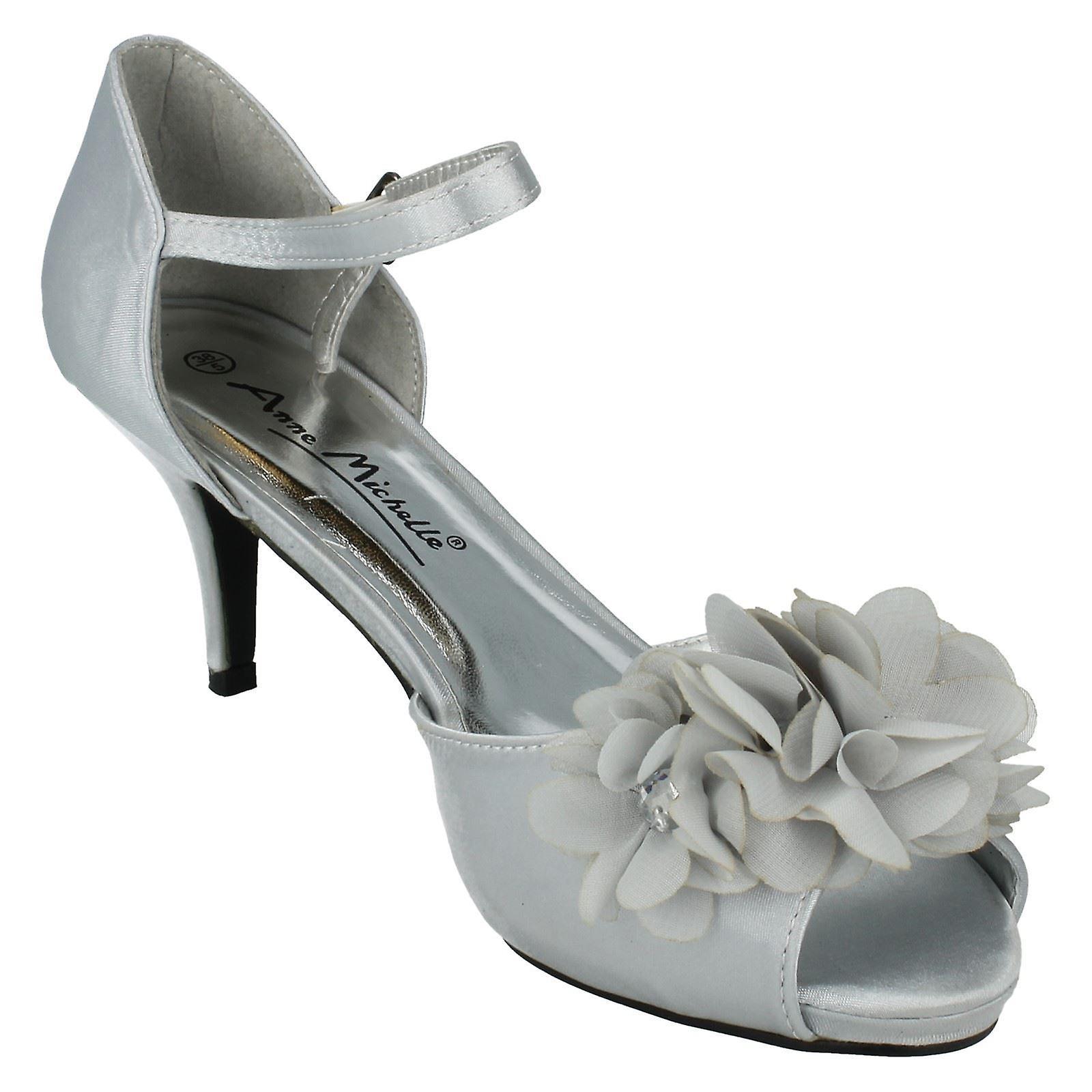 Ladies Anne Michelle Blomst Trim Heeled Sandaler