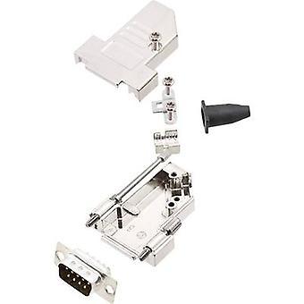 encitech DTSL09-S-JSRG + DBP-K 6355-0042-01 D-SUB-nasta nauha sarja 45 ° nastojen luku määrä: 9 juotos ämpäri 1 sarja