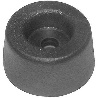 Fixare șurub picior negru (Ø x H) 17,5 mm x 9 mm 1 buc (e)