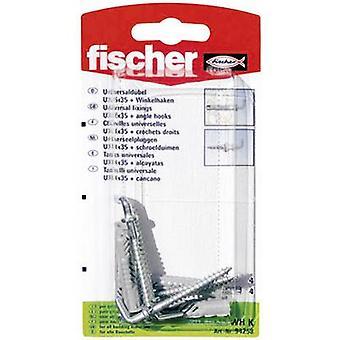 Fischer UX 6 x 35 WH K Universal Plug-35 mm 6 mm 94258 4 PC('s)