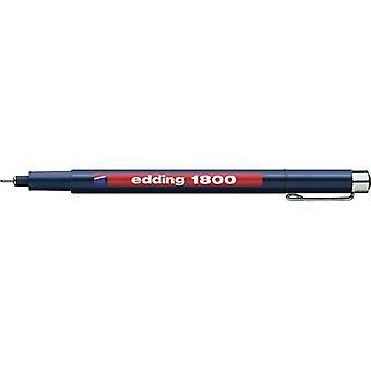 Edding 4-180005001 تحرير 1800 Fineliner الأسود 0.5 ملم 1 جهاز كمبيوتر (أجهزة الكمبيوتر)