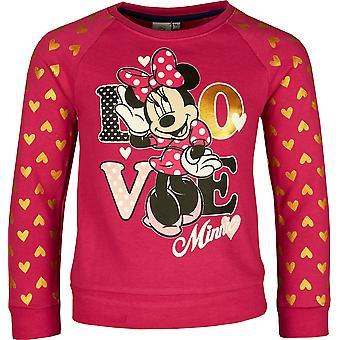 Mädchen ER1051 Disney Minnie Mouse Sweatshirt Größe: 3-8 Jahre