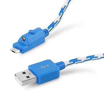Verizon Braided Charge and Sync micro USB Cable for micro USB Phones - Blue / White - Universal