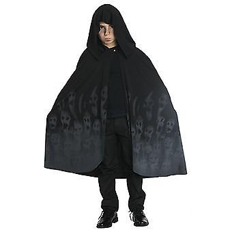 Ghostcape fantasma do cabo para o preto de fantasias Halloween criança