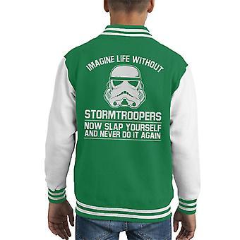 Originele Stormtrooper leven voorstellen zonder Kid's Varsity Jacket