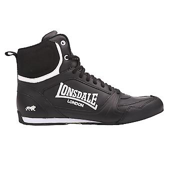 Lonsdale Kids Bout Jnr Boys Boxing Boots Lace Up Sport Shoes Trainers Footwear