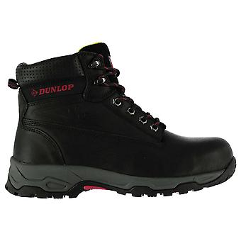 Dunlop Womens op Site Veiligheidslaarzen Lace Up schoenen gewatteerde enkel kraag leder