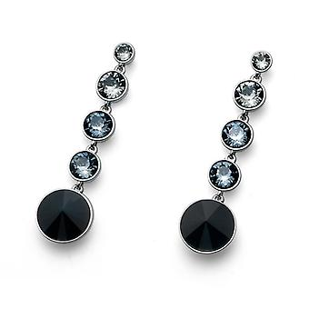 Oliver Weber Post Earring Pend Rhodium Crystal