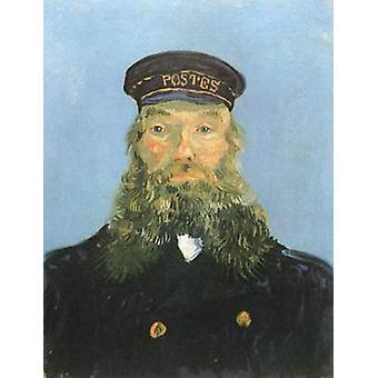 Portrait of the Postman Joseph Roulin,Vincent Van Gogh,64x48cm