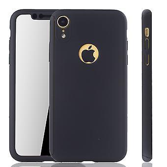 أبل iPhone XR الهاتف حالة حماية حالة كامل غطاء خزان حماية زجاج أسود