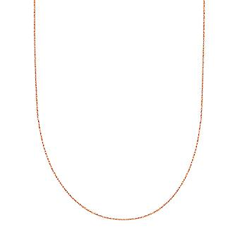 Collier chaîne en 14 k corde or Rose, 0,6 mm