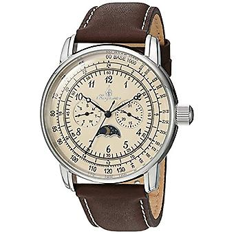 Burgmeister Quartz men's watch with analog display and brown leather bracelet BM335___195_a