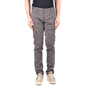 Incotex Ezbc093038 Men's Grey Cotton Pants