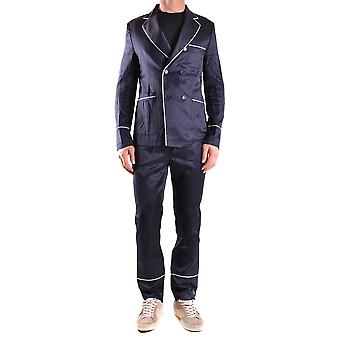 Daniele Alessandrini Ezbc107020 Men's Blue Viscose Suit