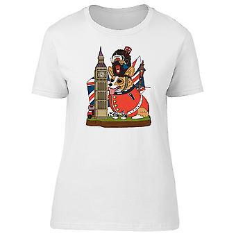 Corgi Hund britische Landmark T-Shirt Herren-Bild von Shutterstock