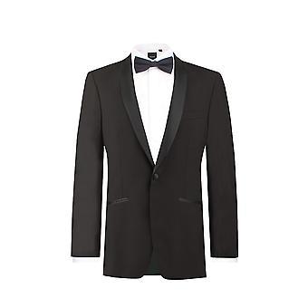 ・ ドベル メンズ黒のタキシード ディナー ジャケット レギュラー フィット ショール襟