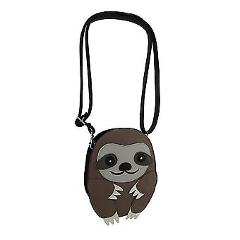 Adorable Sleepyville Critters Three Toed Sloth Cross Body Purse