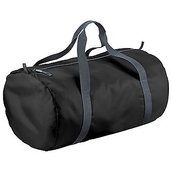 BagBase Packaway Barrel Bag / Duffle Water Resistant Travel Bag (32 Litres) (Pack of 2)