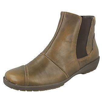 Ladies Suave Casual Leather Ankle Boots Julie