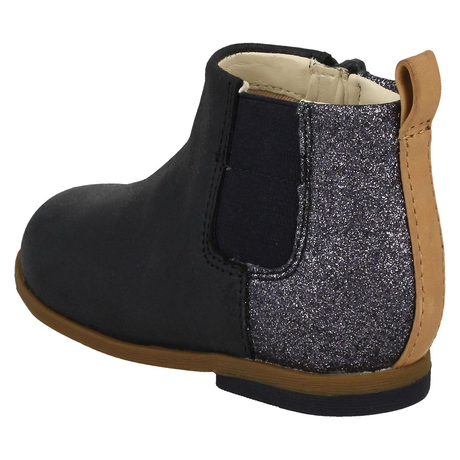 Infant Girls Clarks Glitter Detailed Ankle Boots Drew Fun