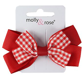 Molly & Red Gingham Rose ragazze FERMACAPELLI