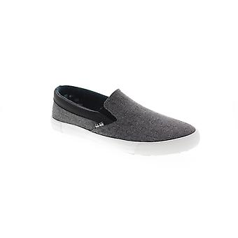 Ben Sherman Pete Slip On Mens Gray Canvas Casual Slip On Loafers Chaussures