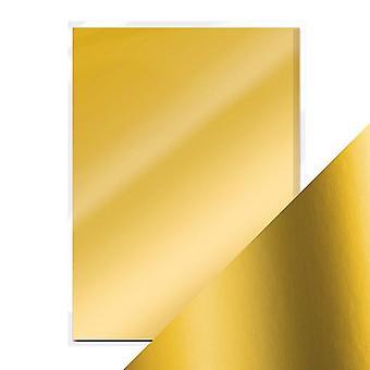 Craft perfect door Tonic Studios A4 satijnen effect Mirror Card Gold Pearl | Pak van 5