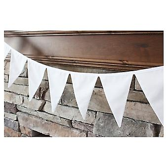 Union Jack Wear White Pennant Bunting 5 Metres ( 17 Feet )