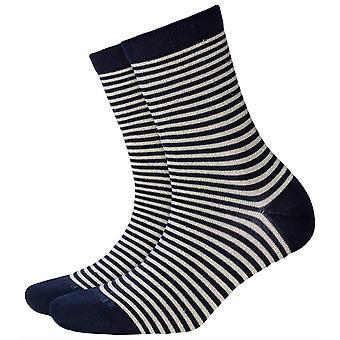 Burlington Ladywell Ringlet calcetines-marino azul/crema