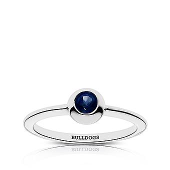 Yale University Sapphire Ring In Sterling Silver Design by BIXLER