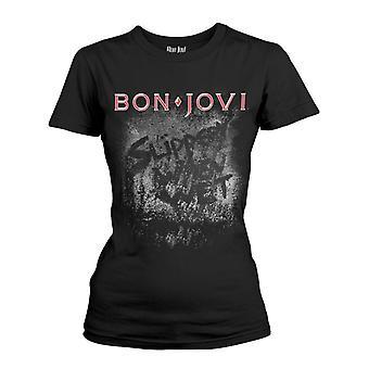 Bon Jovi Slippery When Wet Album T-Shirt Girlie