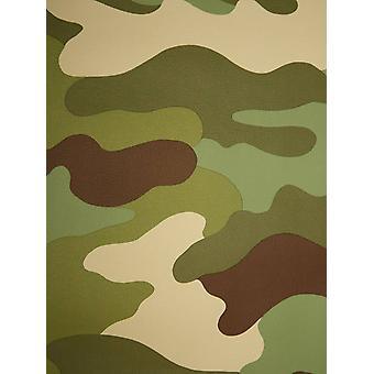 Camuflagem wallpaper 10m Rasch 260914