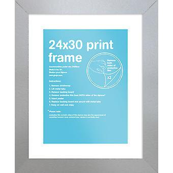 Eton argento cornice 24x30 cm Poster / stampa Frame