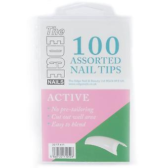 The Edge Nails Assorted Nail Tips - Active (100 Pieces) (2017411)