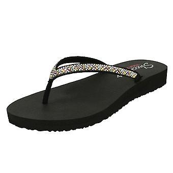Ladies Skechers Diamonte Detailed Toe Post Sandals Perfect 10 31756