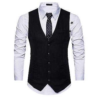 Allthemen menn ' s Suit vest V-hals slim fit Business casual vest