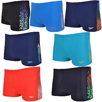 Speedo Boys Kids Logo pannello piscina Swim Aquashort Boxer Shorts Trunks